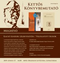 Kacsó Sándor, a közíró –  Kettős könyvbemutató Filep Tamás Gusztáv, intézetünk munkatársának részvételével