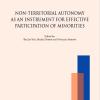 Megjelent Vizi Balázs, Dobos Balázs és Natalija Shikova szerkesztésében a Non-Territorial Autonomy as an Instrument for Effective Participation of Minorities c. kötet