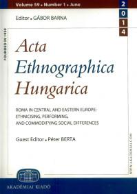 Megjelent az Acta Ethnographica Hungarica roma-száma
