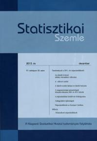 Statisztikai Szemle 2013_12. szám